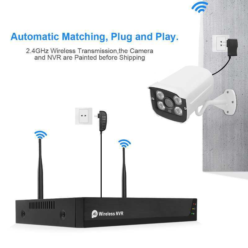 Indoor outdoor Tuya 1080P wireless home security CCTV camera system 4 8 channel surveillance IP wifi nvr kit cctv camera set