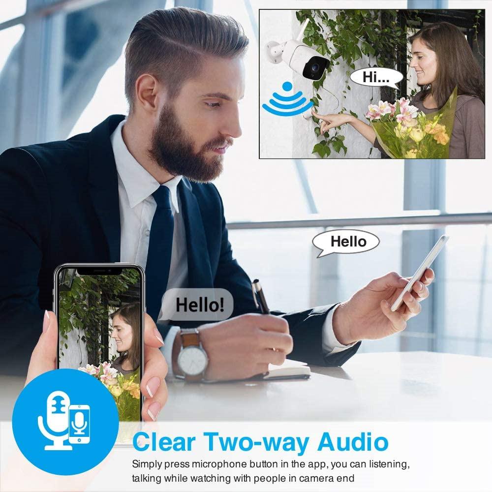 Good quality cctv wifi outdoor wireless security 1080p 1080 IP audio ir bullet surveillance ip camera