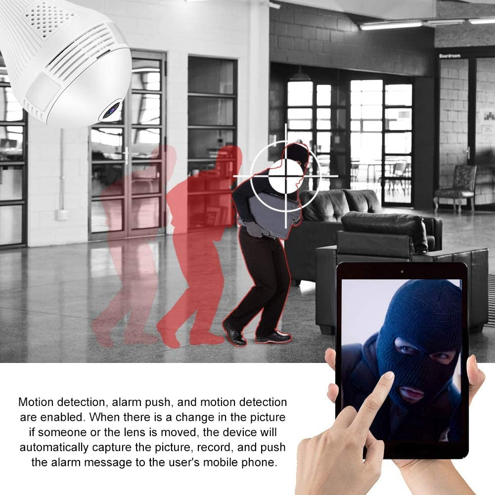 Full HD 960P Wifi Bulb Hidden Spy Camera 3 pcs LED Wireless Panoramic
