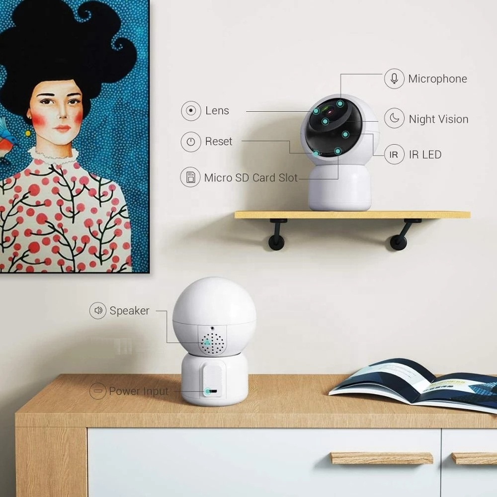 CCTV Camera WiFi 1080P Wireless IR Indoor Security Night Vision Home CAM