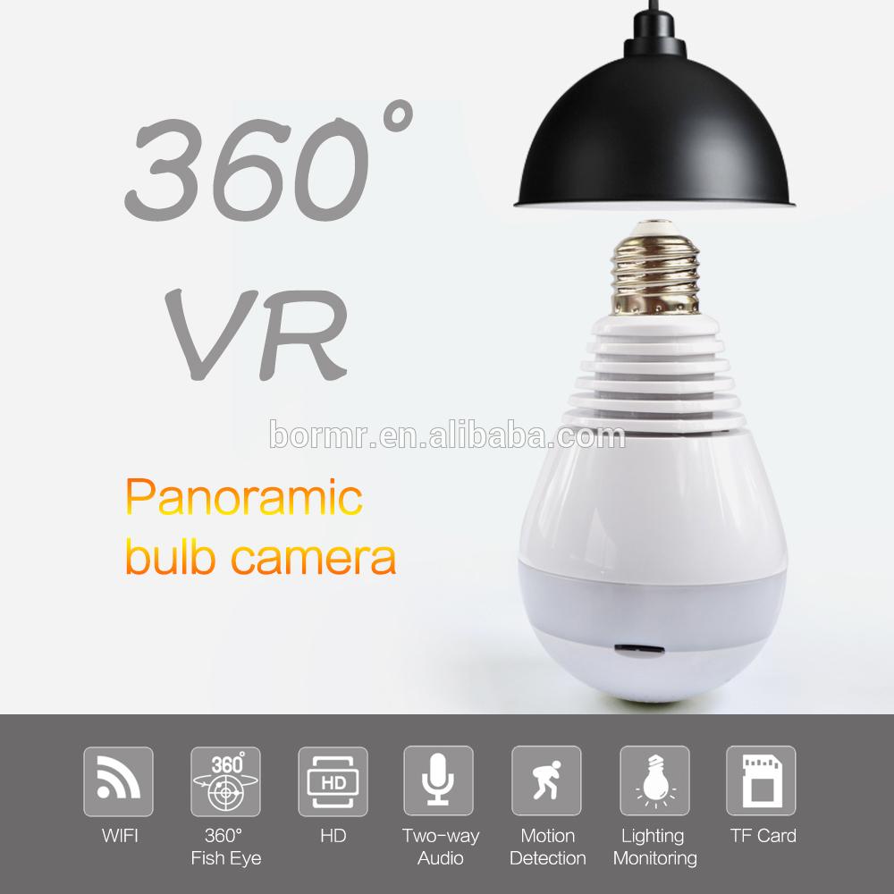 Hot Sale Hidden Spy Fisheye wifi 360 Light Bulb CCTV Camera wiffi directional