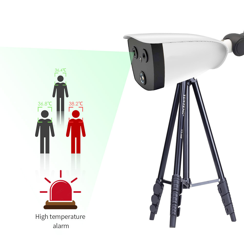 AI  Network Bullet Thermal Optical Camera   Fever Detection CCTV IP Camera  support high temperature alarm