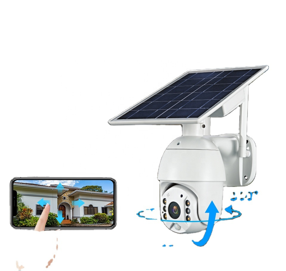 Smart Full Color Night Vision 1080P 4g Security Camera Ptz Solar Cctv With Sim Card Price