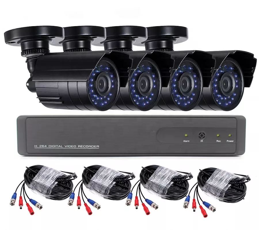 4CH 1080N AHD DVR 720P CCTV System 1.0MP IR Night Vision Indoor Outdoor Camera Home Security Video Surveillance Kit Featured Image
