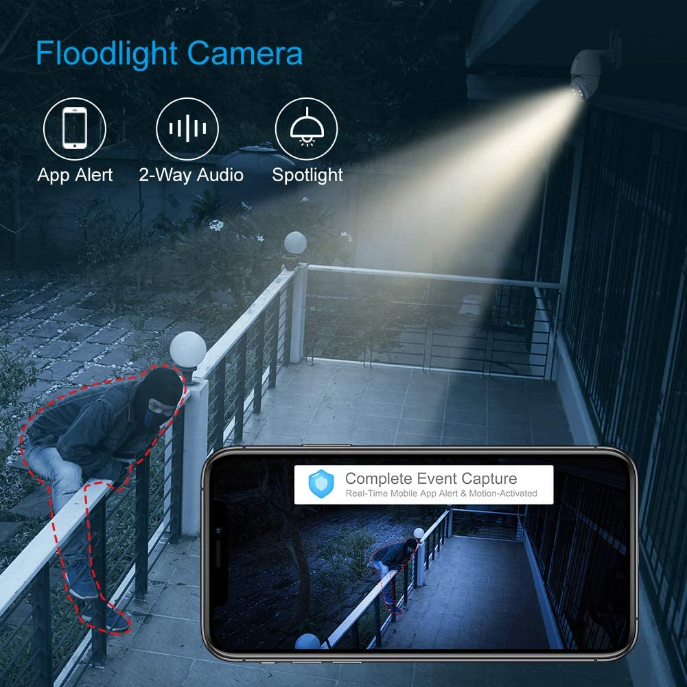 1080P HD Auto Tracking Mini CCTV Wireless Outdoor sunivision WiFi Security outdoor ip camera