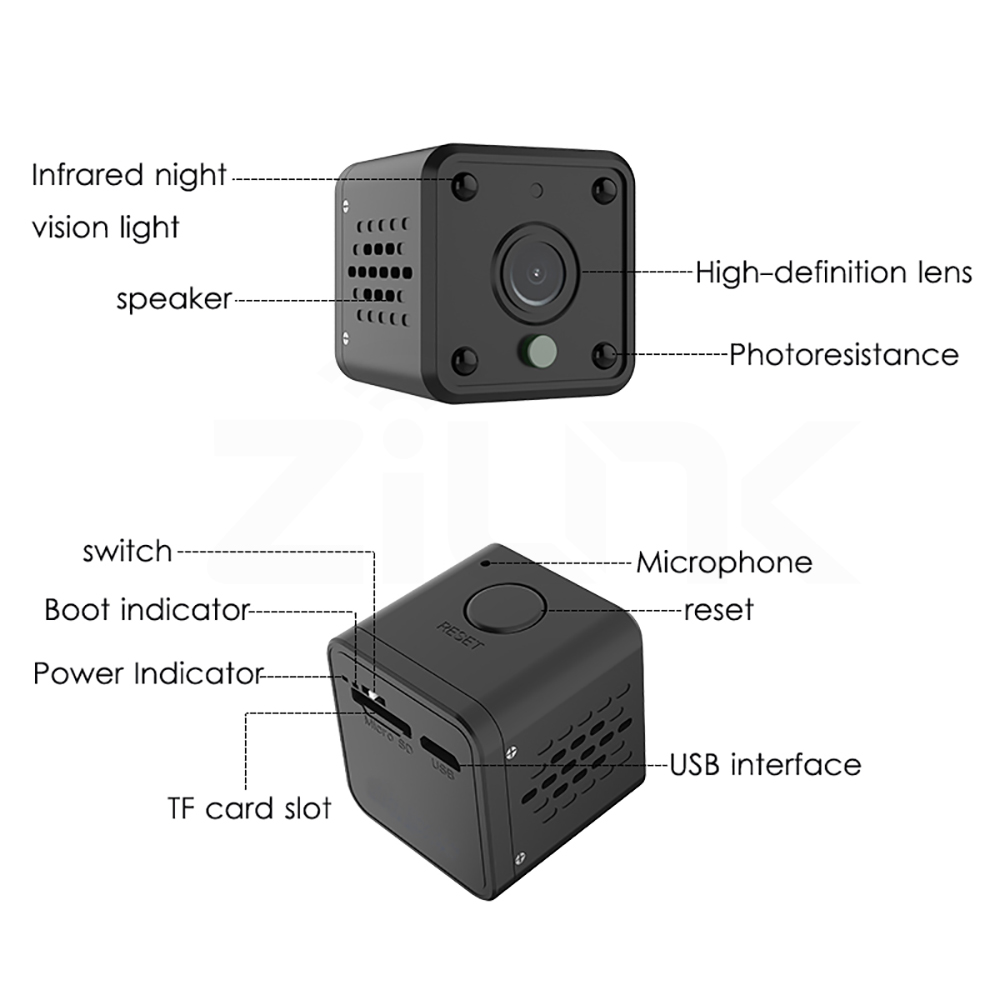 New 2 hours Portable 2MP super Small Indoor and outdoor Remote Battery sustainable bike camera
