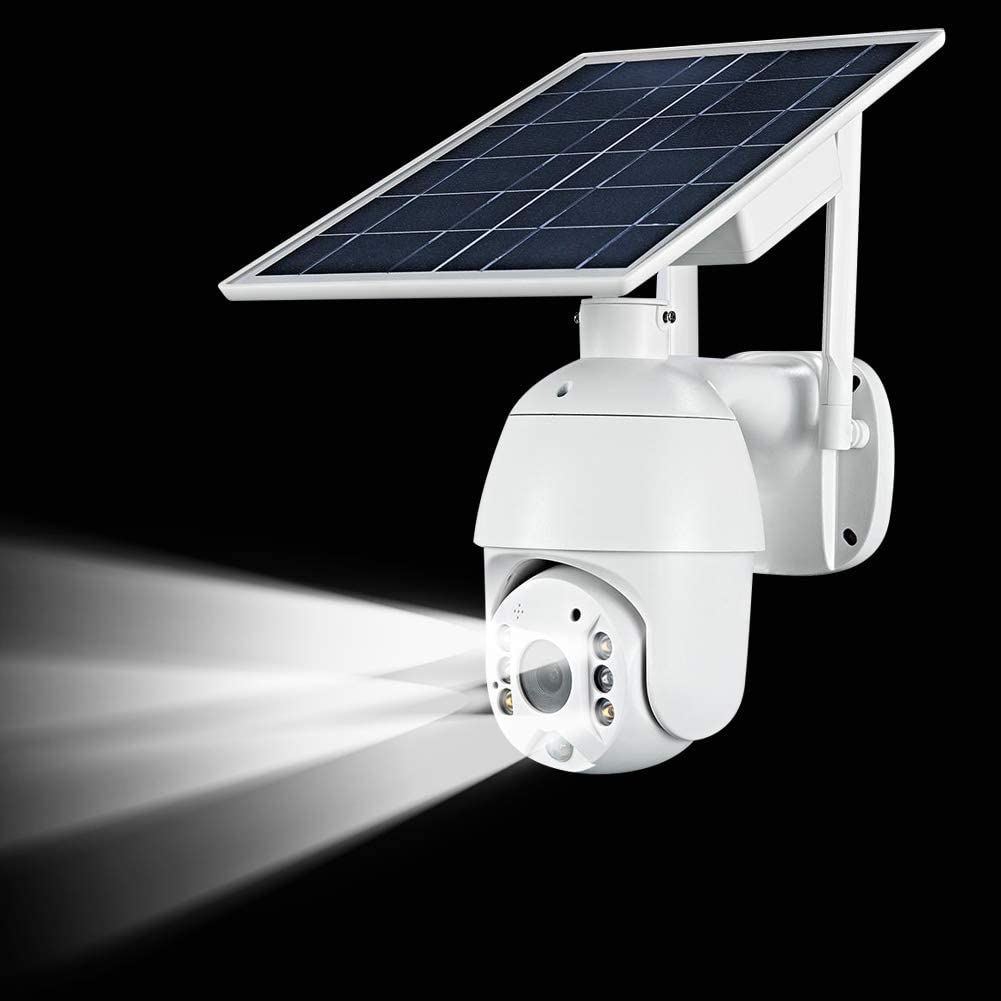 1080P 4G WiFi Cam Night Vision PIR Motion Detection Two-Way Audio Cloud Storage Battery Outdoor 4G PTZ Solar Camera