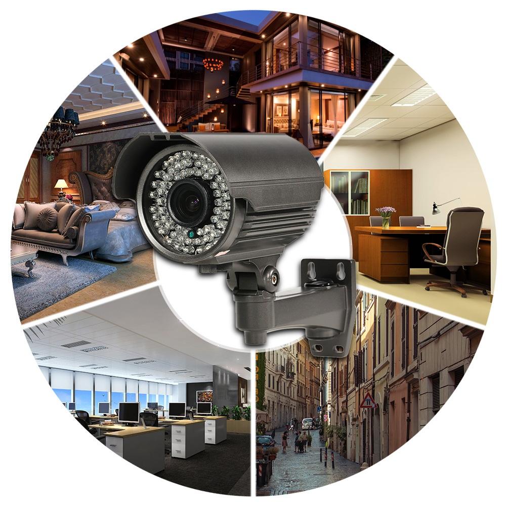 4MP Manual Zoom Bullet AHD Camera 2.8-12mm Varifocals Lens OSD Menu 72Pcs IR Leds Infrared Waterproof Outdoor Analog Camera