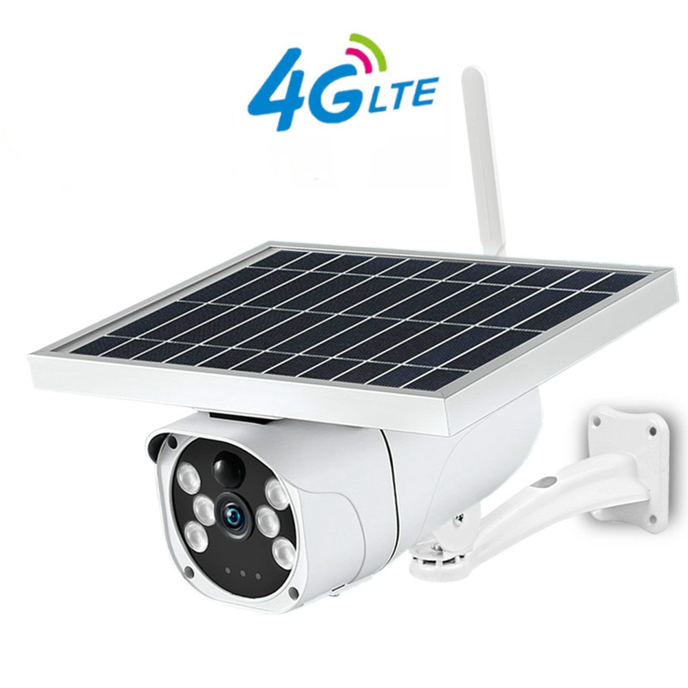 3G 4G SIM Card Solar Camera 1080P HD Outdoor Built-in Lithium Battery Wireless Smart Security Monitoring PIR Motion Camera
