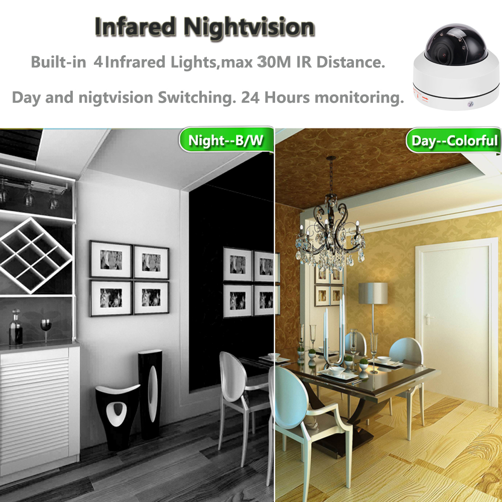 PTZ Onvif IP Camera 5MP / 2MP 4 xZoom Autofocus (2.8-12mm) Speed Dome Camera IP66 Waterproof Night Vision Device