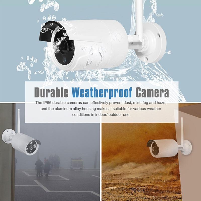 8 Channel NVR POE HD 2MP CCTV IP Cameras Kits 8 CH Home Video Surveillance Cameras System