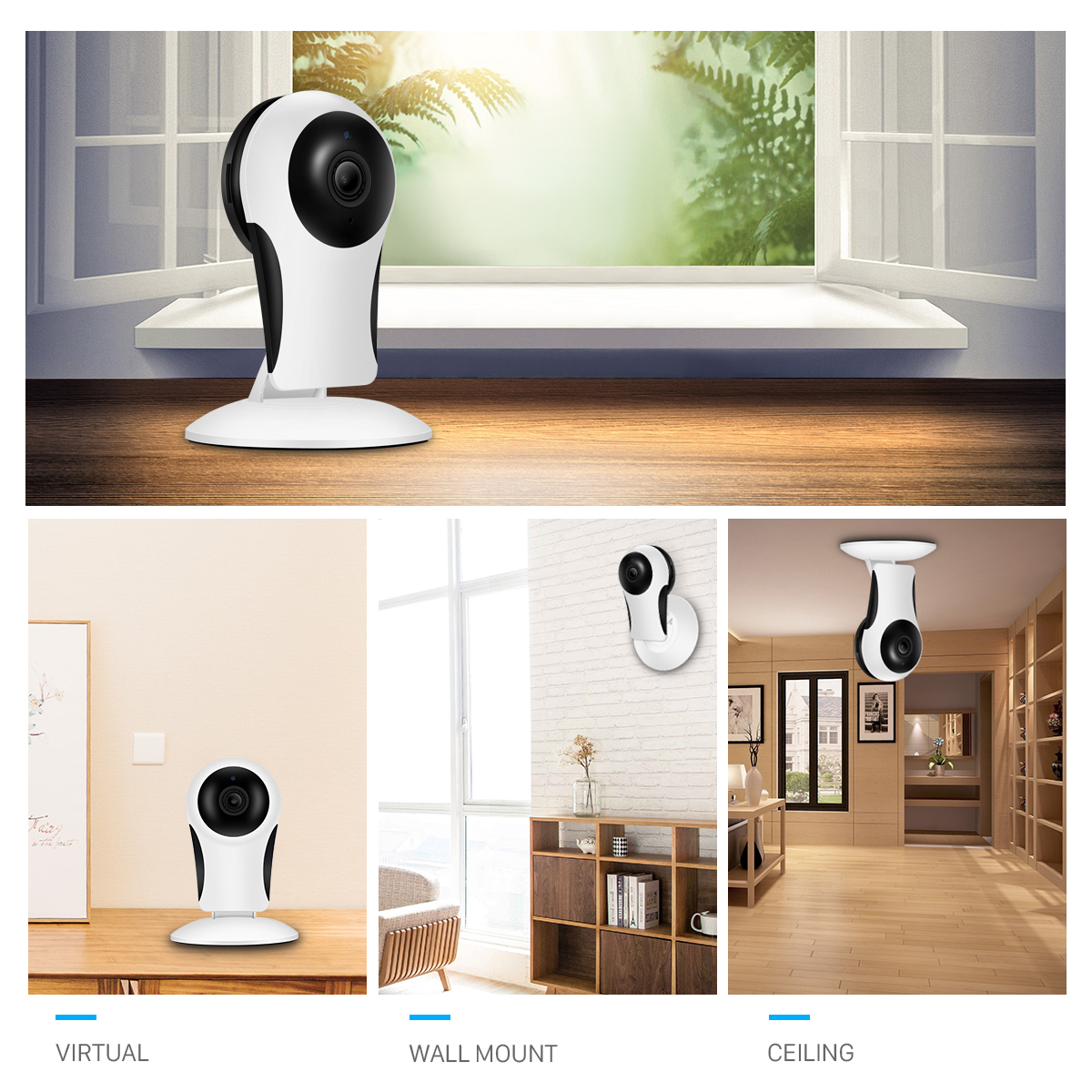 HD 960P Mini Wifi Camera Indoor 10M Night Vision Two Way Audio Home Security IP Camera