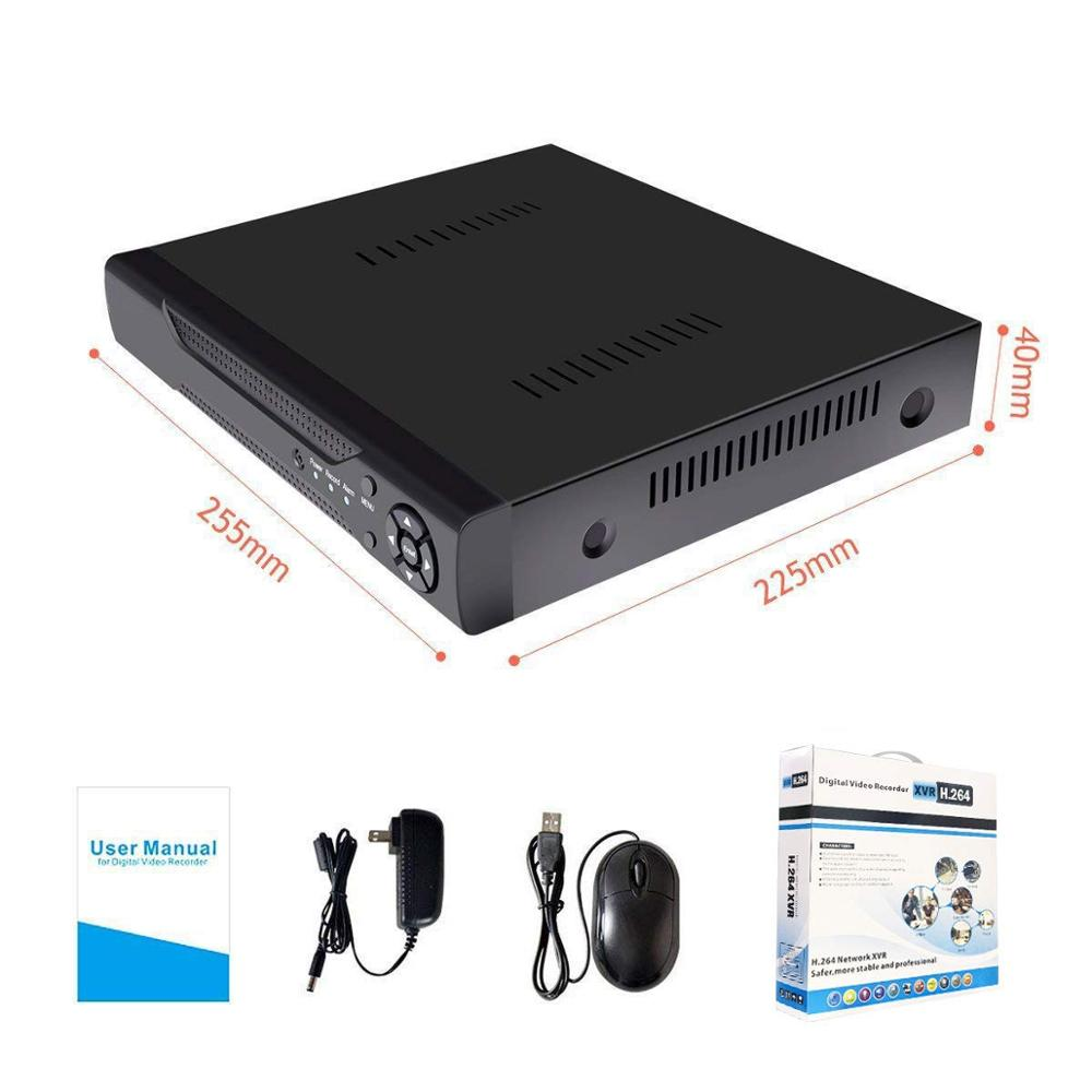 4CH H.265  5MP 6 IN 1 DVR FACE DETECTION AND PLAY BACK DVR SUPPORT XVI AHD TVI CVI CVBS IP CAMERA(ONVIF) Support 1 SATA HDD