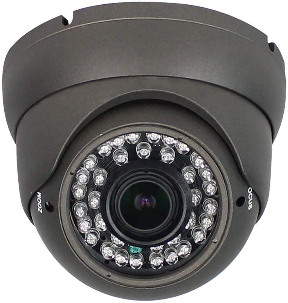 CCTV TVI AHD CVI CVBS Security Dome Camera with 2.8mm-12mm Manual Focus Zoom Lens Camera