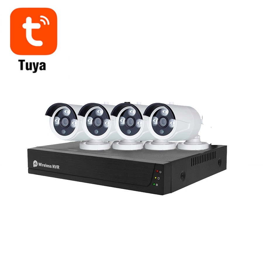 4CH 2mp Tuya Best selling Outdoor Security 4CH NVR Kit Full HD 4 Channel POE IP Camera System Featured Image