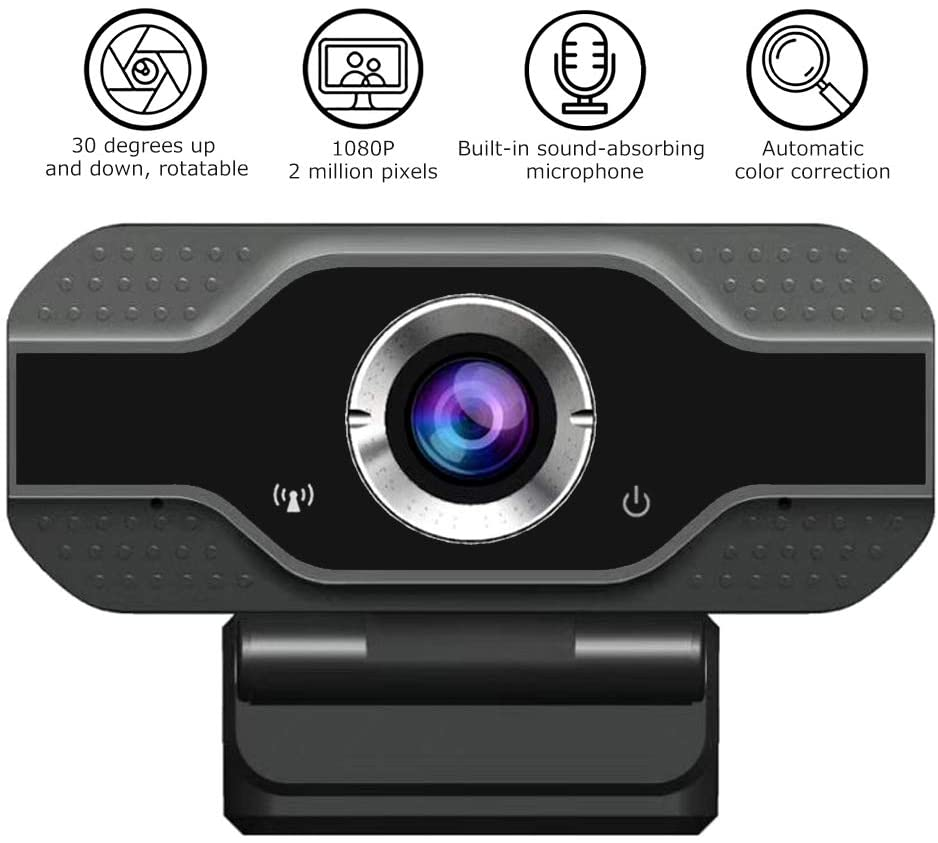 Full HD 1080p 30fps Video Calling USB Webcam with Microphone Web Camera  Video Cam