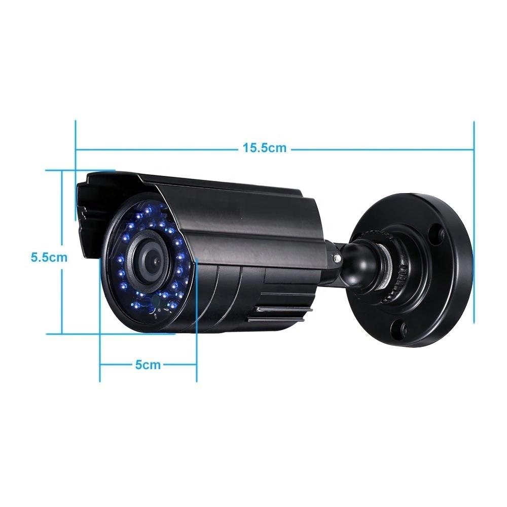 Kit 04 Security Cameras Hd 1080P AHD Hb Tech + Dvr Intelbras Multi Hd  Accessories