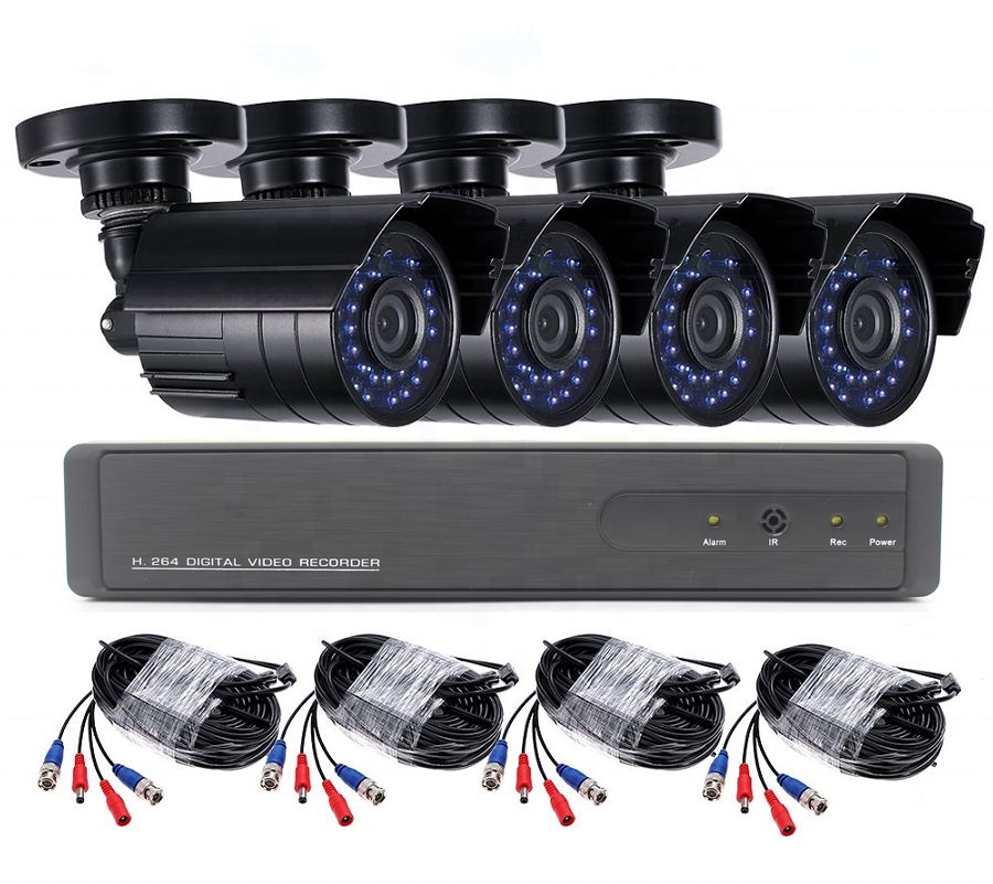 1080P HD Camera kits 4ch ahd dvr kit security cctv camera system with bullet outdoor 1080p 2mp hd camera system
