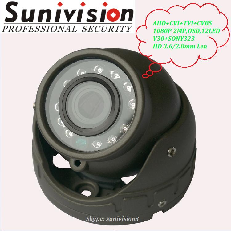 1080 Mini IR Dome Bus Car Surveillance Camera 2MP