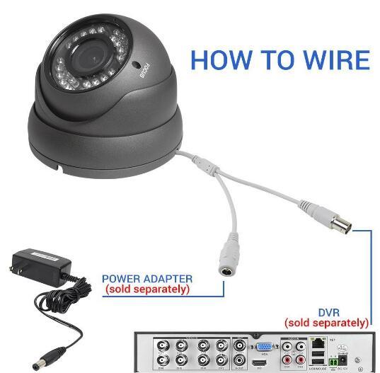 New 2.8-8mm  1080P 2.0MP motorized Auto focus lens AHD CVI TVI Hybrid Security dome eyeball Camera
