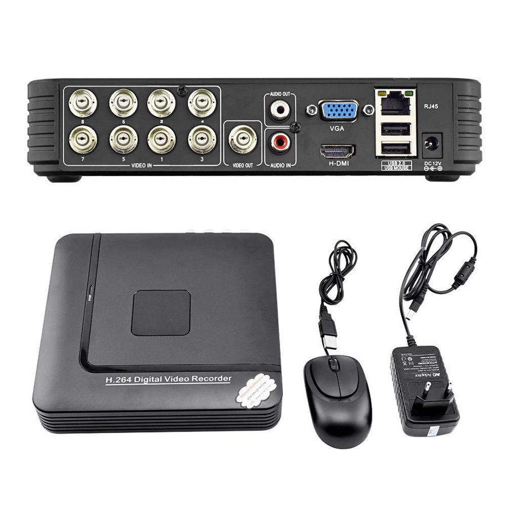 8 CH Mini DVR 2CH D1+6CH CIF CCTV DVR 960H Security System H.264 DVR Recorder