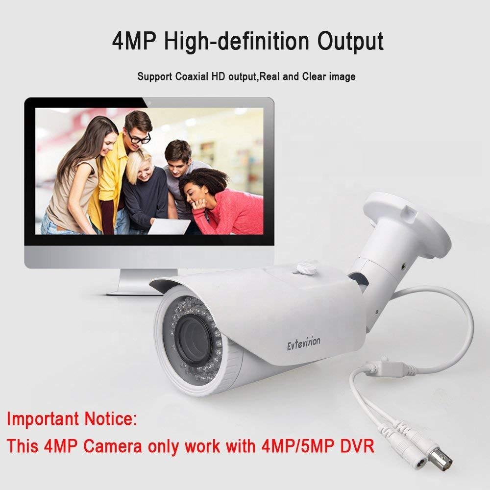 H.265 ONVIF Network IP Bullet 4MP PoE Weatherproof CCTV face detection ip camera with motorized zoom ip camera module