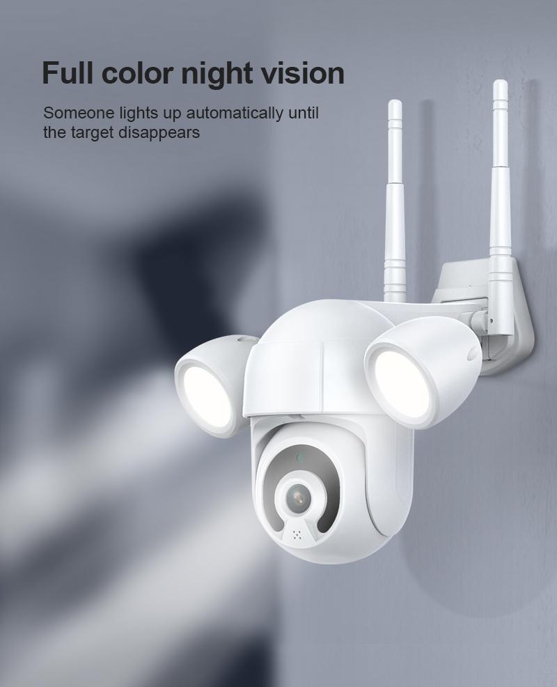 floodlight Tuya Wifi IP Camera Outdoor Night Vision wireless PTZ Home Security CCTV Surveillance  camera