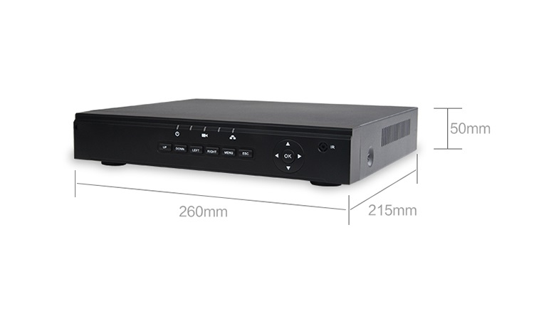 8CH H265 POE NVR CCTV Camera System support 8*1080P Camera with ONVIF  VGA and 1*SATA HDD APP XMEYE