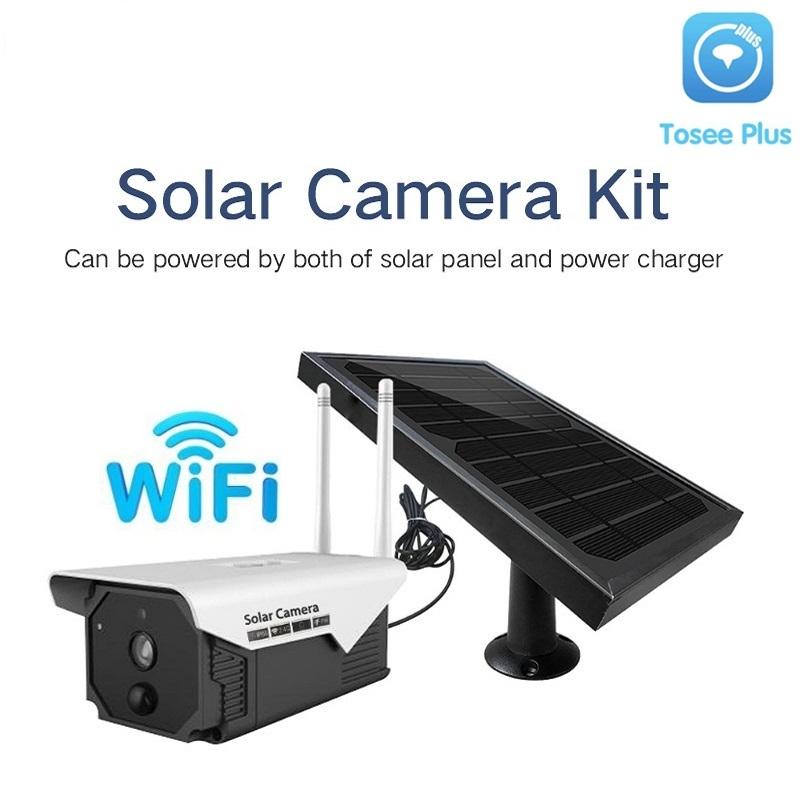 Smart 1080P 2.0M Waterproof Wireless WIFI P2P Solar Battery Power Outdoor Video Surveillance Security CCTV Solar PIR IP Camera