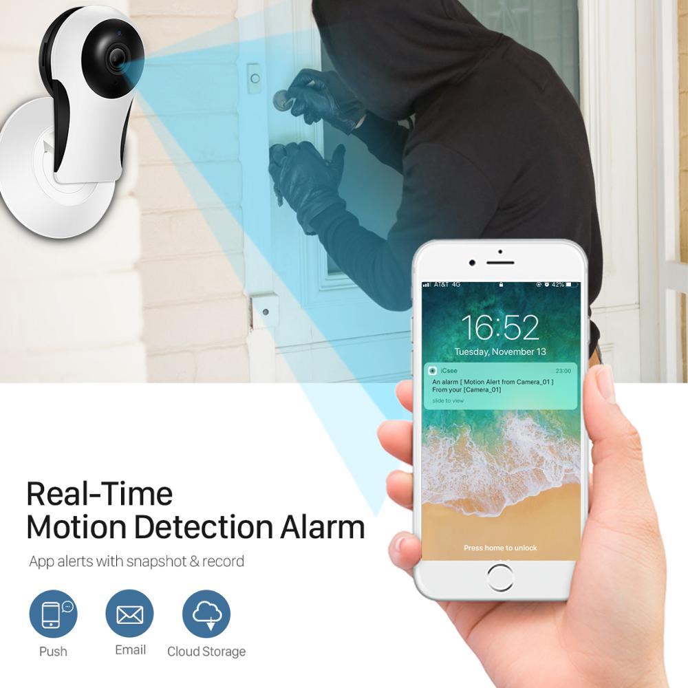 1080P HD Fisheye Mini Indoor Night Vision Cloud Storage IP  Wireless  WiFi IP VR CCTV Camera Cam