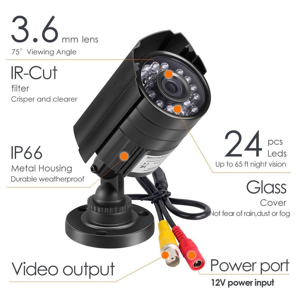 HD outdoor waterproof home security video surveillance camera set system IP AHD DVR Video Recorder cctv camera dvr kit