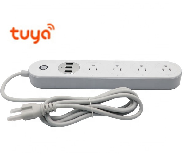 Smart Tuya Plug Power Strip TUYA power extension socket of smart WiFi Extension Socket US smart plug