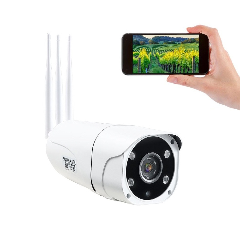 IP CCTV Network 4G WiFi Camera Support SIM TF Card 1080P HD P2P Two Way Audio Night Vision Waterproof IP66 4G Camera Featured Image