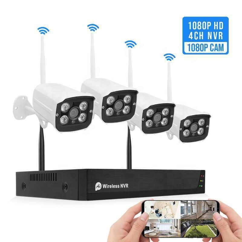 Tuya Smart Life 4CH 5MP FHD Video System Surveillance Camera NVR Kit Wireless WIFI CCTV System Camera Security System Featured Image