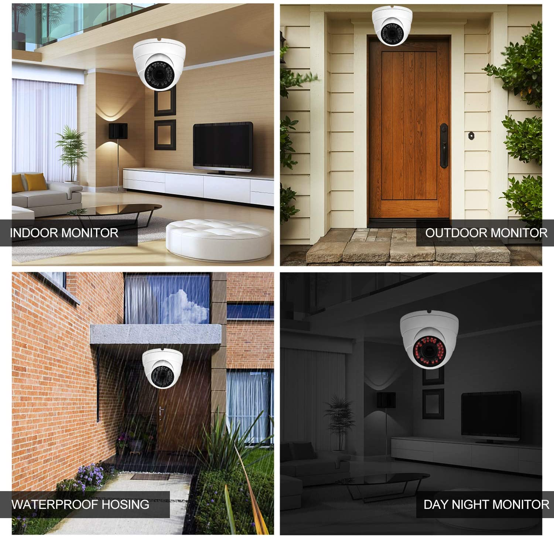 Analog CCTV Camera HD 1080P TVI AHD CVI CVBS Security Dome Camera with 2.8mm-12mm Manual Focus Zoom Lens Camera