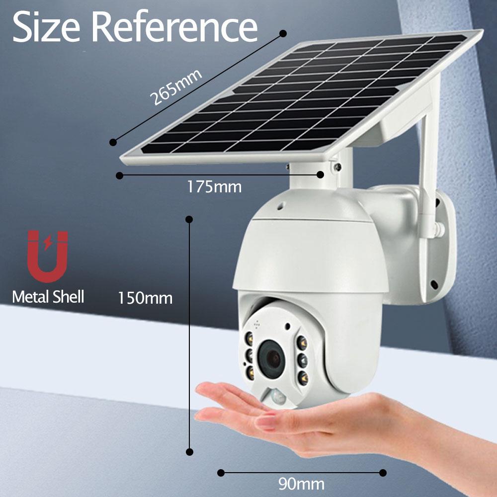 Full HD 1080P PTZ dome cam tuya wireless cctv security solar panel battery cameras outdoor solar powered ptz wifi camera