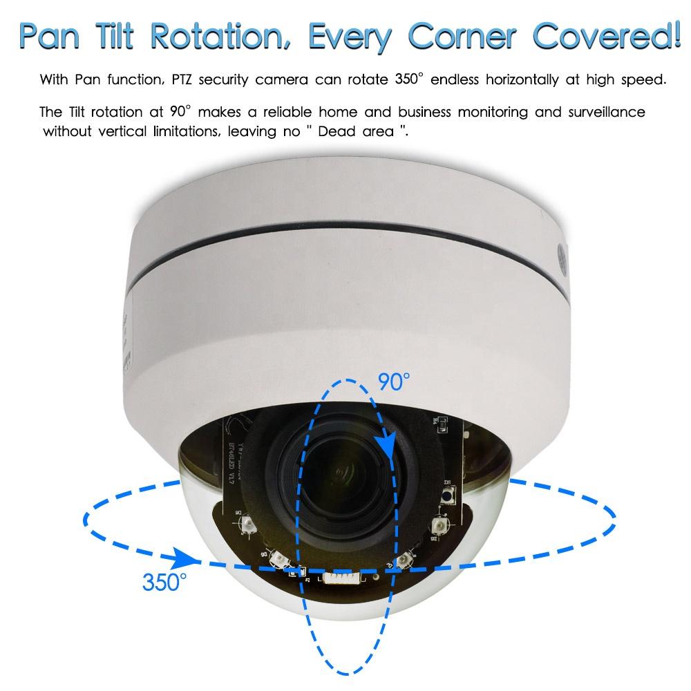 Cctv camera home outdoor camera night vision poe 2.5 camaras mini smart ip kamera camara de metal dome ptz