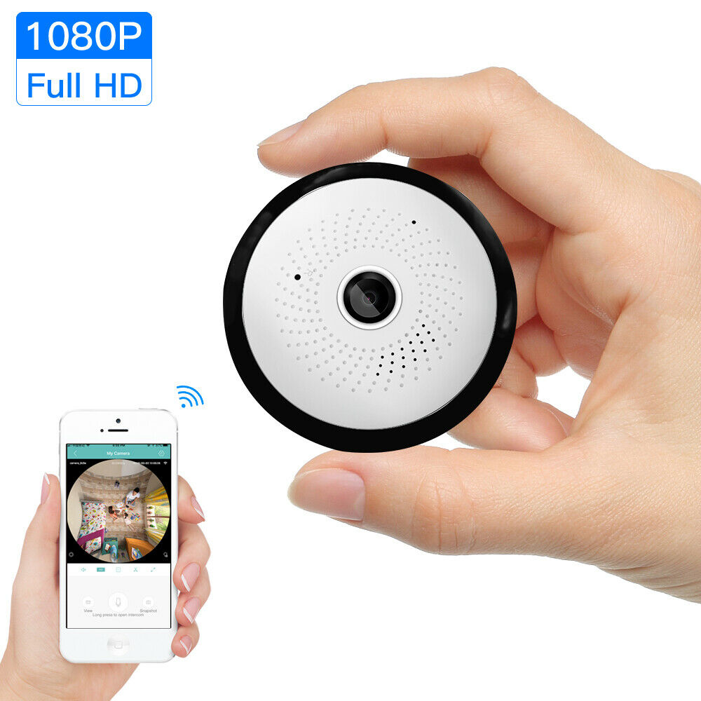 1080P Wireless WIFI Camera IP Bulb Lamp CCTV Smart Home Camera Panoramic FishEye LED