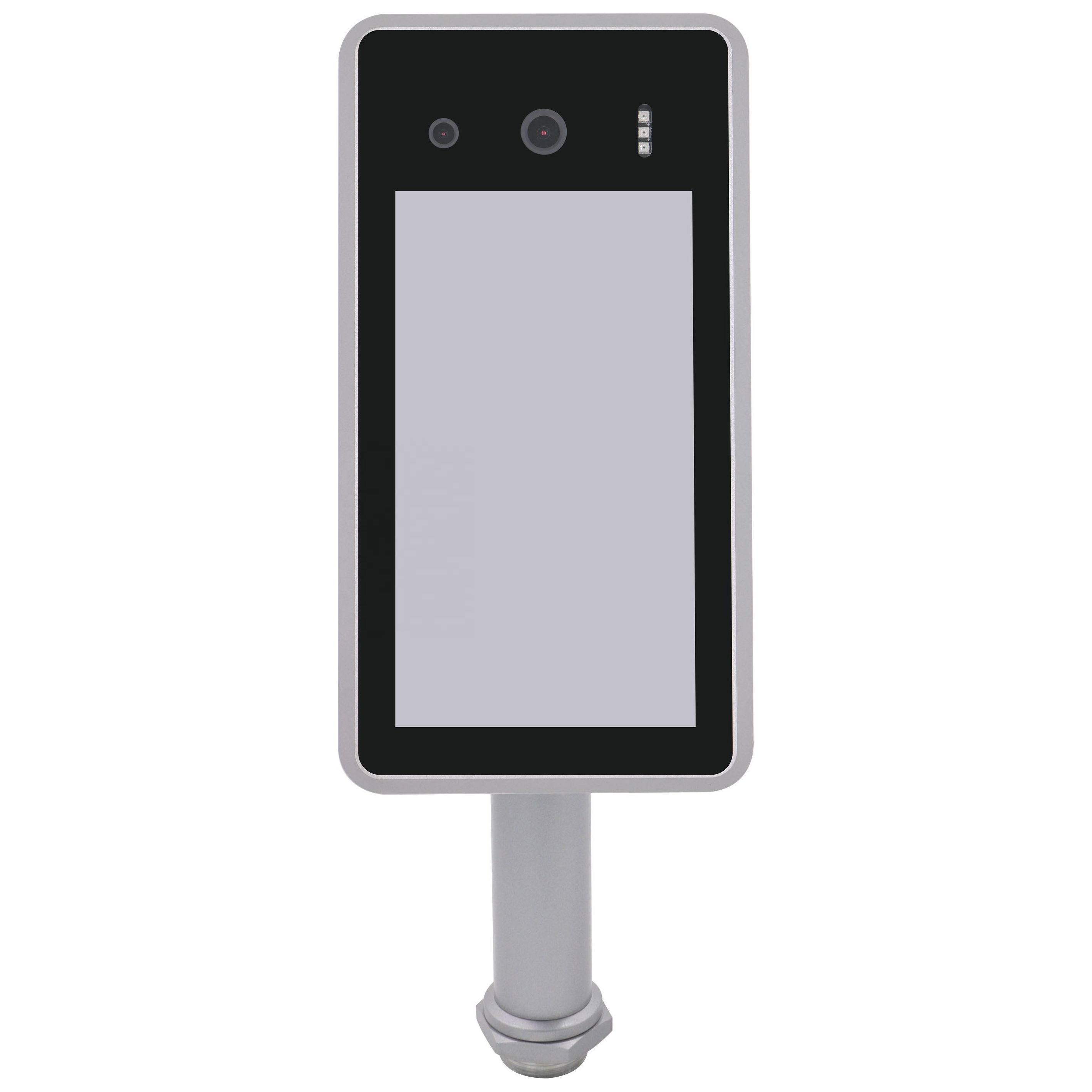 7inch face recognition AI thermometer with access control system