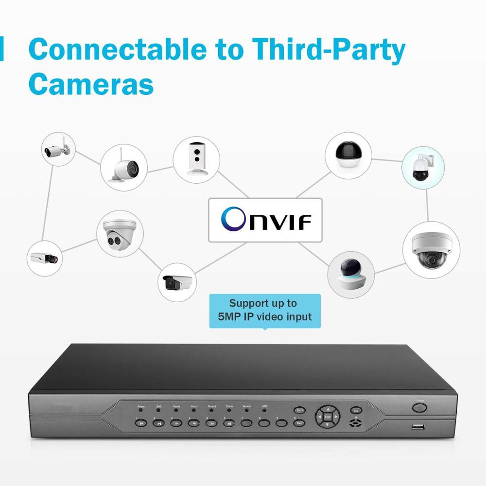 H.265 8CH 16CH 32CH POE Network Video Recorder NVR ,  4*SATA HDD, ONVIF APP: XMEYE