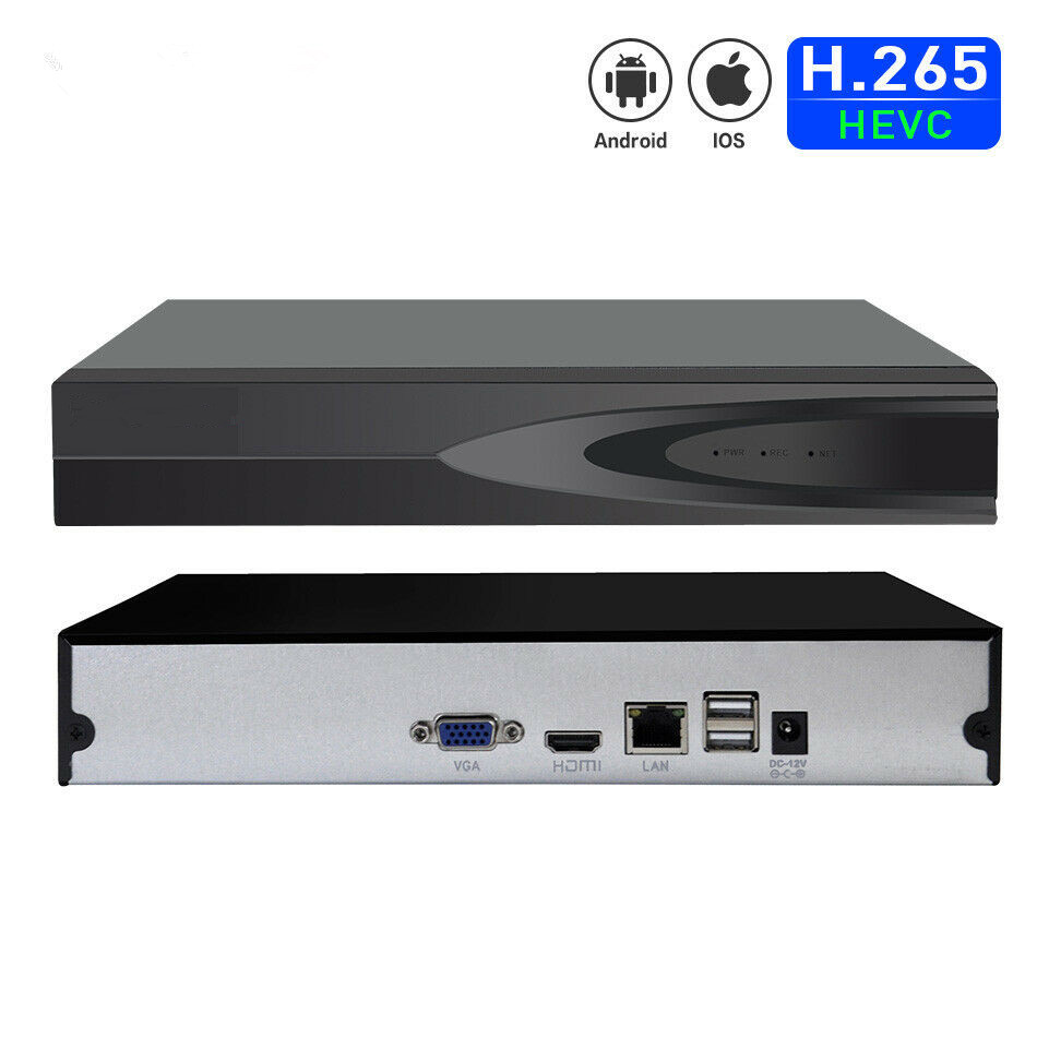 H.265 16CH  XMEYE Network Video Recorder NVR for support 16*5MP 16*1080P IP Camera with ONVIF  VGA and 1*SATA HDD APP XMEYE